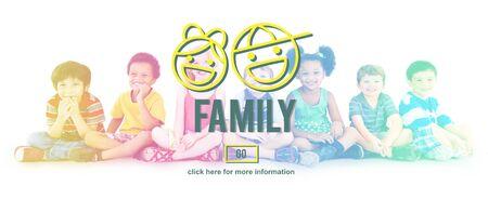 offspring: Los padres de familia de hermanos Offspring concepto de amor de Grupo