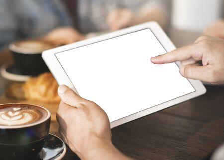 copyspace: Mockup Copyspace Hands Digital Tablet Concept