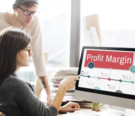 margen: Profit Margin Finance Income Revenue Costs Sales Concept
