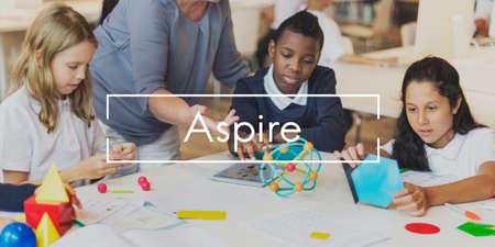 Aspire Idea Goal Motivation Challenge Concept