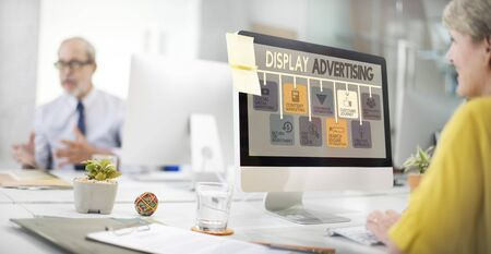 display advertising: Display Advertising Marketing Commercial Concept