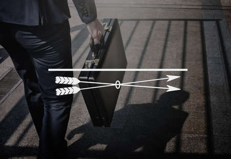 attache case: Focus Clarity Concentrate Goals Target Vision Concept Stock Photo