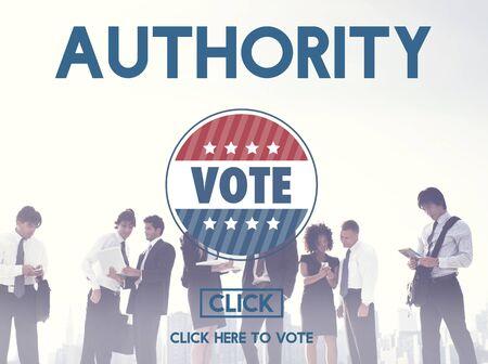 authorize: Authority Allow Agent Approve Permit Authorize Concept Stock Photo