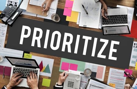 importance: Prioritize Efficiency Expedite Importance Issues Concept Stock Photo