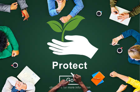 prevention: Protect Saving Security Safety Prevention Protection Concept Stock Photo