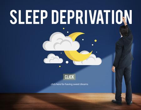 apnea: Sleep Apnea Insomnia Sleep Deprivations Disorders Sleepless Concept Stock Photo