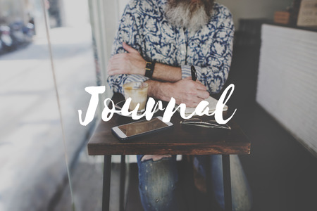 labelling: Leisure Journal Journalism Ideas Express Yourself Concept Stock Photo