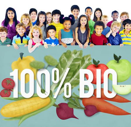 comida rica: 100% Bio buena comida comer bien Concept