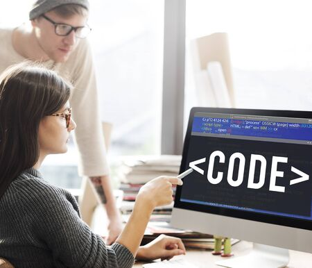 Code Coding Programming Technology Technical Concept Stock Photo
