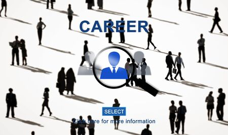 recruiting: Career Hiring Occupation Professional Recruiting Concept Stock Photo