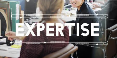 Expertise Capacité Excellence Perspicacité Perfection Concept Banque d'images