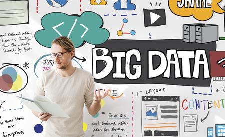 shared sharing: Big Data Information Storage Server Online Technology Concept