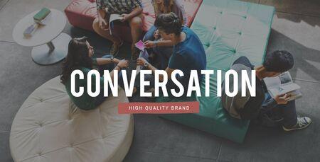 mingle: Communicate Conversation Connection Socialize People Concept