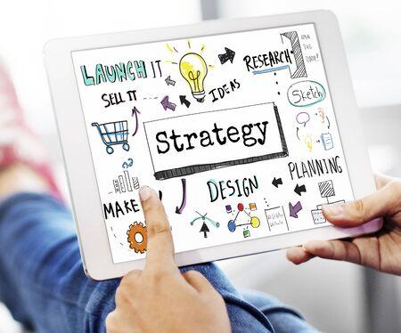 reseach: Method Strategy Business Workflow Progress Concept