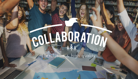 come in: Teamwork Togetherness Achievement Success Goals Concept