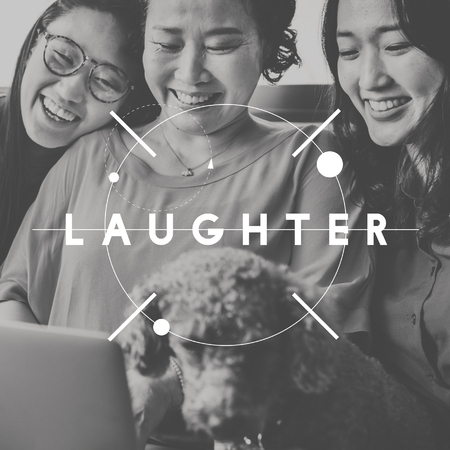 laughter: Happy Moments Laughter Happiness People Graphic Concept