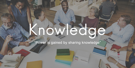 Knowledge Learn Education People Graphic Concept Stock Photo