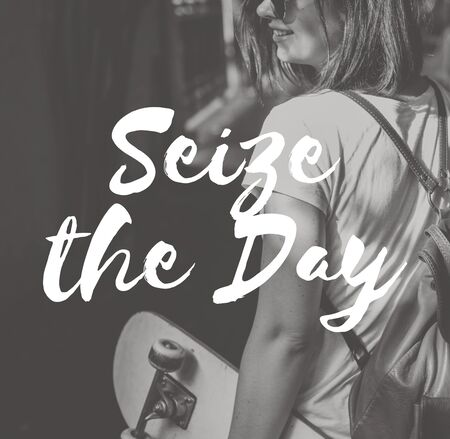 juntar: Seize the Day Collect Moment Enjoyment Positive Concept