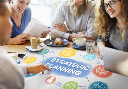 Strategy Planning Target Process Business Concept Imagens
