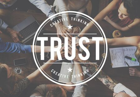 trustworthy: Trust Trustworthy Reliavle Thruthful Honorable Concept Stock Photo