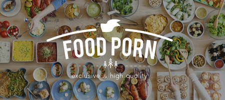 porn: Foodie Food Porn Meal Eating Concept