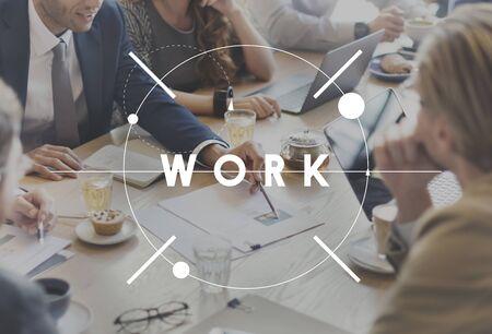 Travailler de travail Carrière Profession Productivité Concept Banque d'images