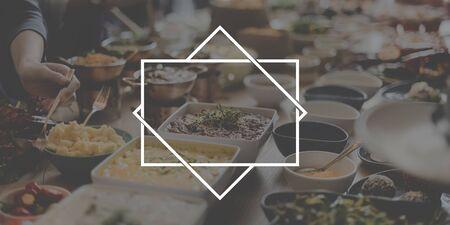 british cuisine: Badge Label Mark Brand Copy Space Concept Stock Photo