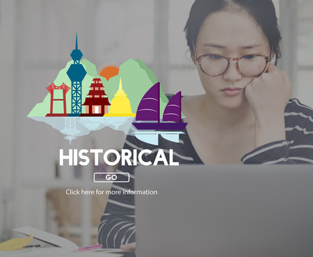 social history: Historical History Landmark Ancient Tourism Concept