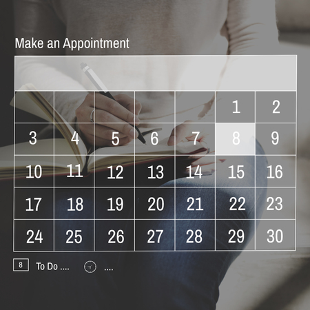 appointment: Calendar Dates Appointment Graphic Concept