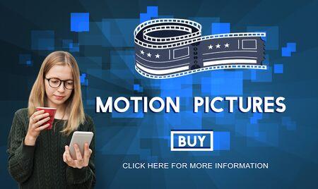 blockbuster: Movie Cinema Ticket Graphic Concept