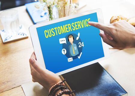 faq's: Customer Service Satisfaction Assistance Support Concept