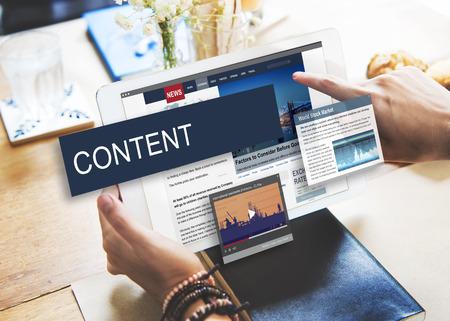 Media Journalistiek Global Daily News Content Concept