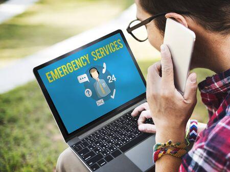 enquiry: Emergency Services Urgency Helpline Care Service Concept