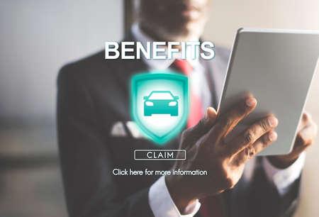 salarios: Beneficios Activos Beneficio Valor salarios bono de reclamaciones Concept Foto de archivo