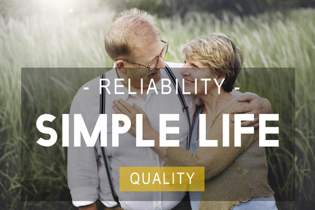 simple life: Simple Life Reliability Quality Living Concept Stock Photo