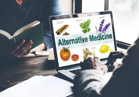 Alternatieve geneeskunde Gezondheid Herb Therapy Concept