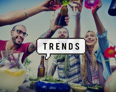 trend: Trend Trendy Design Marketing Managment Concept