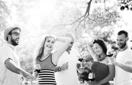 Celebrate Enjoyment Friends Together Unity Social Concept