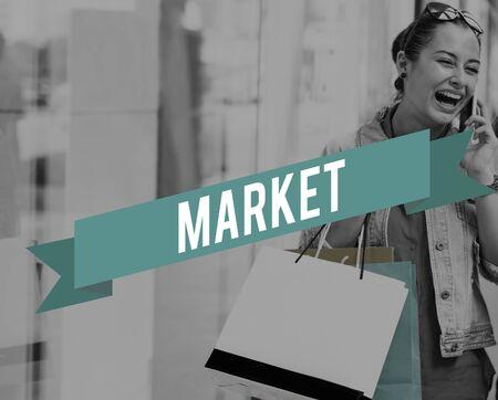 consumer: Market Business Commercial Consumer Niche Concept Stock Photo