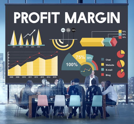 margen: Profit Margin Percentage Business Chart Concept