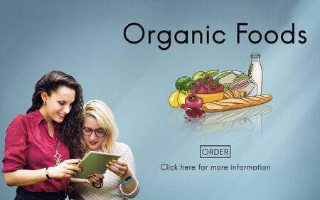 tasteful: Organic Foods Ecological Nutrition Tasteful Nature Concept