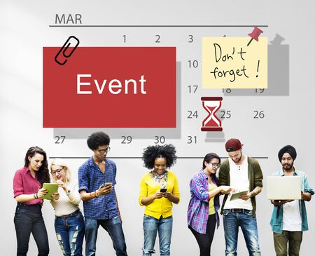 event: Event Schedule Occasion Planner Reminder Concept Stock Photo