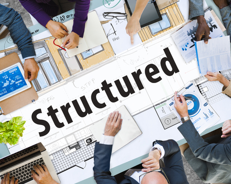 Business meeting with structured concept Stock Photo