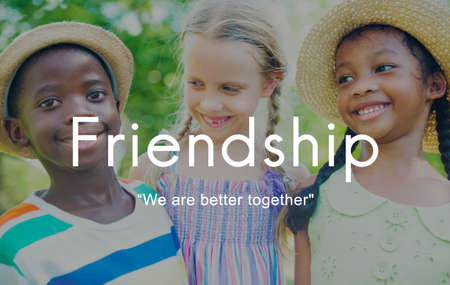 Friendship Together Togetherness Partner Friends Concept Stock Photo