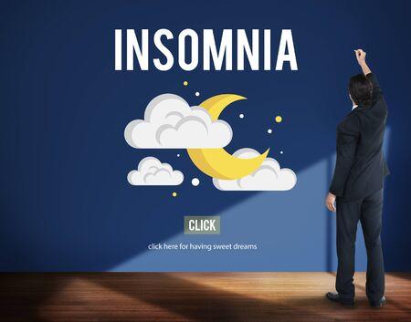 disorder: Insomnia Disorder Problem Ilness Sleep Concept Stock Photo