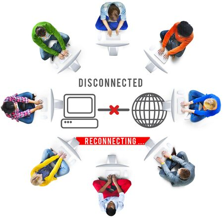 disconnection: Disconnected Disconnect Error Inaccessible Concept Stock Photo