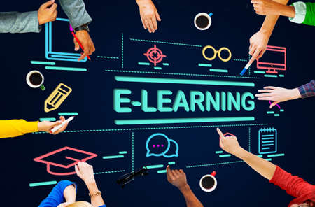 instructional: E-Learning Education Networking Website Study Concept