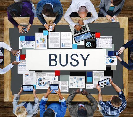 hardworking: Busy Overload Working Hardworking Concept