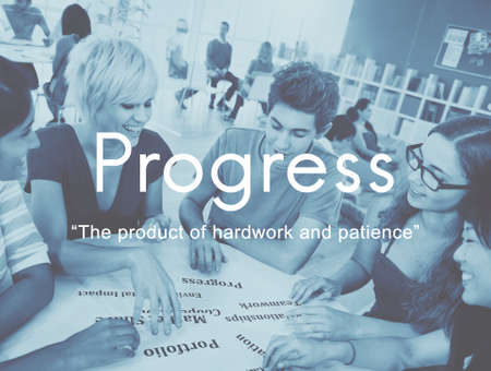 paciencia: El progreso Producto Hardwork paciencia concepto gr�fico