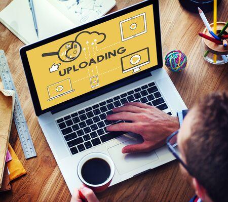 uploading: Upload Uploading Storage Cloud Devices Concept